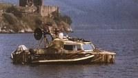 Dinsdale in boat